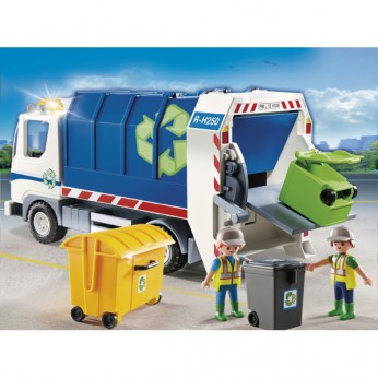 Playmobil Recycling Truck with Flashing Light 4129