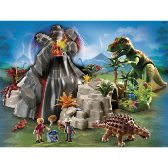 Playmobil Volcano with T Rex 5230